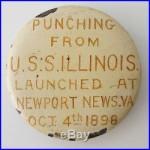 Authentic 1898 USS Illinois BB-7 Battleship Metal Punching US Naval Academy WWII