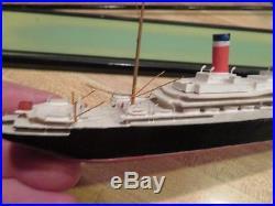BASSETT LOWKE LEVIATHAN MODEL SHIP 1100 in Glass Case Vintage