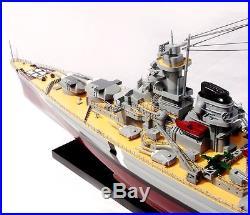 BISMARCK Battleship 40 Handmade Wooden Warship Model