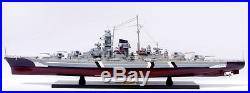 BISMARCK Battleship 40 Handmade Wooden Warship Model NEW