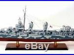 Battleship Camouflage Fletcher Class Destroyer DD-445 Handcrafted 36Wood Model