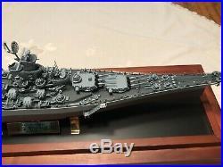 Battleship WW2 USS MISSOURI Metal Hull Model World War 2 Pearl Harbor Tokyo Bay