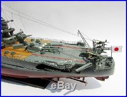 Battleship YAMATO Japanese Navy Ship Model 47 Built Wooden Model Ship NEW