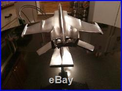 Beautiful Polished Aluminum Prototype L. M. F22 Raptor Desk Art