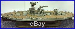 Beautiful Vintage Wooden Toy Battleship