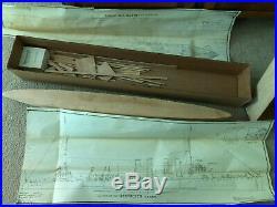 BlueJacket Ship Crafters 310' Destroyer boat wood model kit Rare