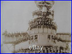 C. 1907 USS ST. LOUIS C-20 US Navy Cruiser Panoramic Photo Lot of 2 O. W. Waterman
