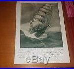 CHRIS RAVE PRINT of SMS SEEADLER WWI Ship SIGNED by COUNT Felix Graf Von Luckner