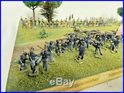 CIVIL WAR NORTH vs SOUTH BATTLE MODEL RECREATION on BOARD