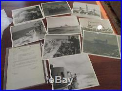 CL102 USS PORTSMOUTH 99 ORIGINAL 8X10 PHOTOS WithPAPER ARCHIVE DOCUMENTS ARTICLES