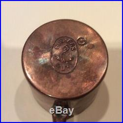 COPPER PLATED RUM RATION 1/2 Gill Cup HMS WARRIOR 1860
