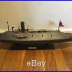 CSS VIRGINIA Civil War 1862 Confederate Warship Museum Quality Ship Model Statue