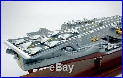 CVN-65 USS Enterprise aircraft carrier display mahogany wood custom model