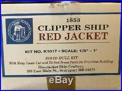 Clipper Ship Red Jacket BlueJacket Ship Crafters Kit K1017