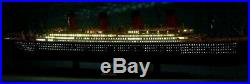 Completed and ready to ship 1/400 RMS Titanic model with led lights