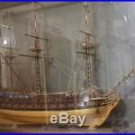 Denmark Navy Man of War Sailing Ship 40 Wood Handcrafted Model & Display Case