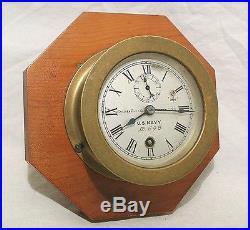 EARLY 1900s U. S. NAVY CHELSEA 4 5/8 DECK CLOCK / SMALL SHIP'S CLOCK SER# 698