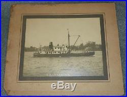 Early Large Photograph U. S. L. H. S. Tender Laurel by Herbert Darley Portsmouth VA