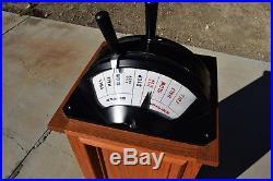 Engine Bridge Henschel Navy Ship Power Speed Control Yacht Boat Oak Pedestal
