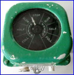 Engine Room Indicator Henschel Corp US Navy Ship STBD Engine Order Indicator