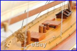 Enterprise 1930 America's Cup J Yacht 25 Built Wooden Model Boat Assembled