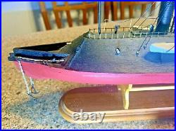 FLAGSHIP MODELS 1/192 Scale CSS Virginia Civil War Ironclad (18 inches long)