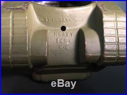 FRAMBURG WW 2 TANK RECOGNITION MODEL 8 CAST BRONZE M-6 HEAVY TANK