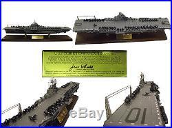 Franklin Mint Uss Yorktown Aircraft Carrier Cv-10 1350 Signature Edition Ww2