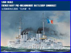 FRENCH NAVY PRE-DREADNOUGHT BATTLESHIP CONDORCET 1/350 ship Trumpeter model kit