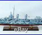 Fletcher Class Destroyer DD-445 36 Camouflage Handmade Wooden Warship Model