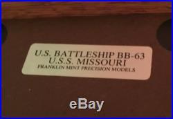 Franklin Mint Precision Diecast Model Battleship BB-63 USS Missouri 9/2/1945