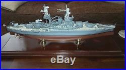 Franklin Mint USS Arizona, Scale 1350 scale model, signed by 4 crewmen