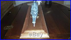 Franklin Mint, USS Missouri BB-63 Battleship Model with Glass Cover