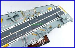 French Aircraft Carrier Charles De Gaulle Model 36 Handmade Wooden Scale 1/287