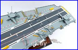 French Aircraft Carrier Charles de Gaulle Handcrafted Model Ship Scale 1/287
