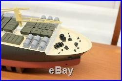 GENERAL DYNAMICS 23 Maritime Prepositioning Replica Ship Model Case QUINCY MA