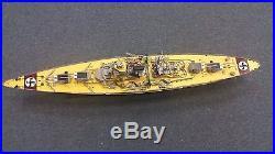 GERMAN BISMARCK Battleship Handmade WWII Wooden Model Ship 40 INCHES