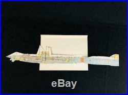 GERMAN NAVY U-BOAT SUBMARINE CUT-AWAY SECTION PAPER MODEL, Original Circa 1914