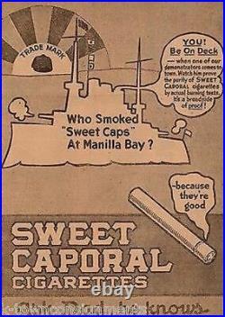 George Dewey Battle at Manila Bay Antique Sweet Cap Cigarettes Ad Poster Print