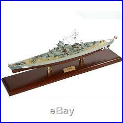German Battleship Bismarck Desk Top Display 1/350 Ship WWII Navy Boat ES Model