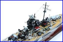 German Battleship Tirpitz Bismarck-class Wooden Ship Model 40 Scale 1250