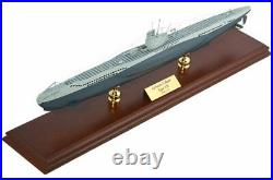 German Navy U-Boat Submarine Desk Top Display Ship Sub 1/125 WW2 Wood ES Model