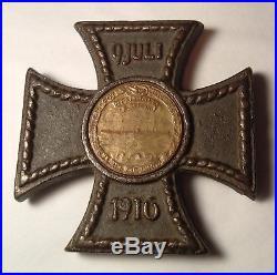 German Submarine U-Boat Deutschland Baltimore 1916 Photo CAST IRON Cross Medal