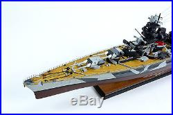 German Tirpitz Bismarck-class Battleship 40 Camouflage Wooden Warship Model