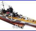 German Tirpitz Bismarck-class Battleship Model 40 Handcrafted Wooden Model