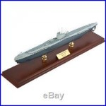 German U-Boat Submarine Desk Top Display Sub Wood 1/125 WW2 Navy Ship ES Model