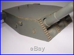 Great VINTAGE WW2 U. S. NAVY BATTLESHIP WOODEN MODEL GUN TURRET HUGE SHIP PART