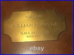H. M. S Intrepid (L11) Royal Navy Captain William P. Smyth Bureau Mahogany Leather