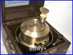 HAMILTON MOD 21 MARINE CHRONOMETER With UP-DOWN INDICATOR RUNNING IN ORIGINAL CASE