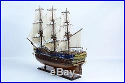 HMS BELLONA 74-gun Royal Navy Tall Ship 38 Handcrafted Wooden Ship Model